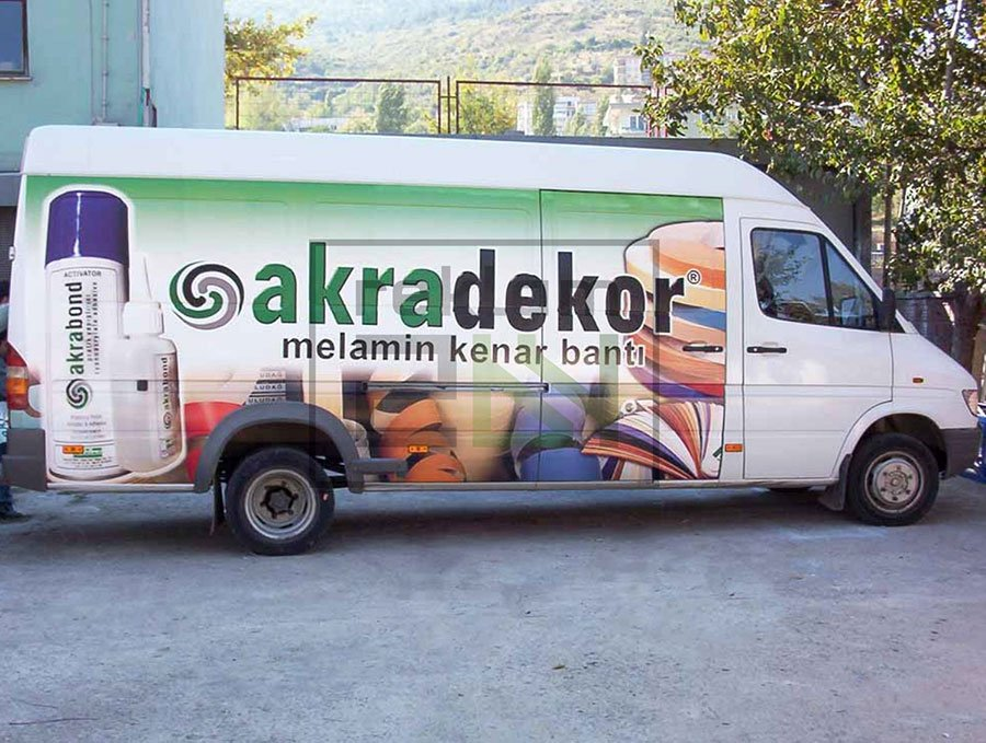 Arac Giydirme reklam folyu Bursa 11