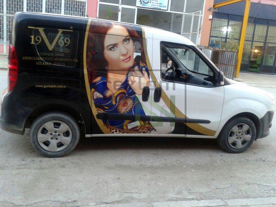 Arac Giydirme reklam folyu Bursa 3